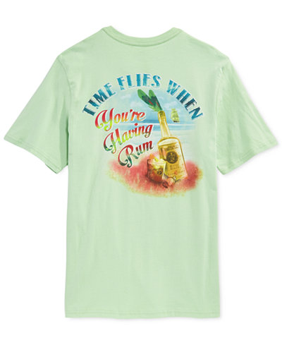 Tasso elba big and tall time flies graphic print t shirt for Big and tall printed t shirts