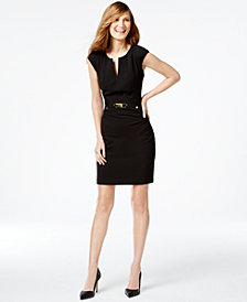 Calvin Klein Buckled Sheath Dress