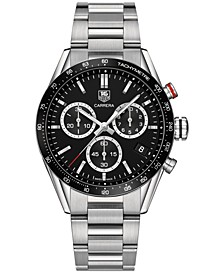 LIMITED EDITION Men's Swiss Chronograph Carrera Stainless Steel Bracelet Watch 43mm-Panamericana Special Edition