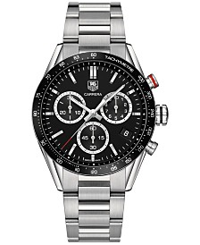 LIMITED EDITION TAG Heuer Men's Swiss Chronograph Carrera Stainless Steel Bracelet Watch 43mm-Panamericana Special Edition
