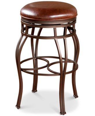 Bella Faux Leather Backless Counter Height Bar Stool Quick Ship  sc 1 st  Macyu0027s & Counter Height 24