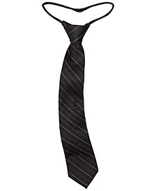 Big Boys Etched Grid Zipper Necktie