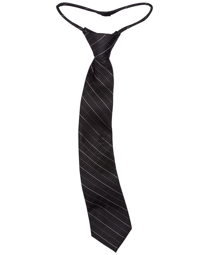 Calvin Klein - Big Boys Etched Grid Zipper Necktie
