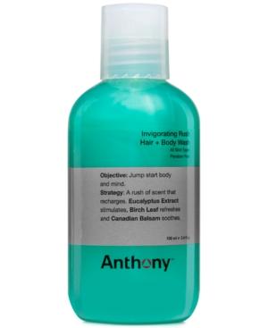 Anthony Invigorating Rush Hair & Body Wash, 3.4 oz