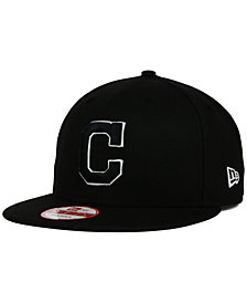 New Era Cleveland Indians Black White 9FIFTY Snapback Cap