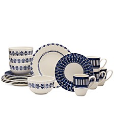 Dinnerware 16-Pc. Siena Blue Set, Service for 4