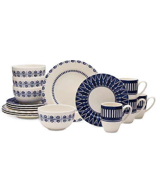 Mikasa Dinnerware 16-Pc. Siena Blue Set, Service for 4