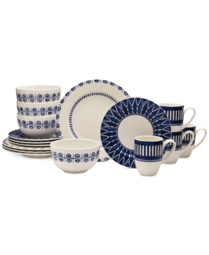 Mikasa Dinnerware 16-Pc. Siena Blue Set, Service for 4