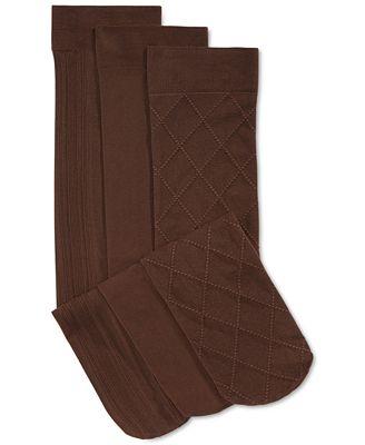 Charter Club Women's 3- Pack Basic Trouser Socks, Created for Macy's