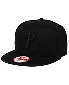Philadelphia Phillies Black on Black 9FIFTY Snapback Cap