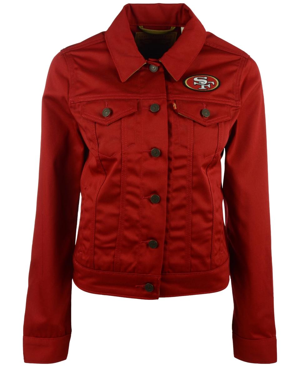 Levis Womens San Francisco 49ers Trucker Jacket   Sports Fan Shop By