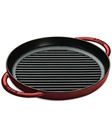 """Enameled Cast Iron 10"""" Round SteamGrill"""