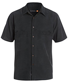 Quiksilver Waterman Men's Tahiti Palms Short-Sleeve Shirt