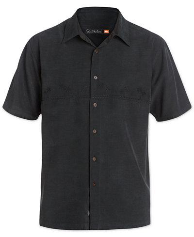 Quiksilver Waterman Men's Tahiti Palms Short-Sleeve Shirt - Casual ...