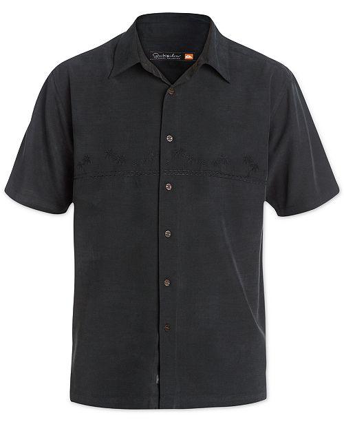 1195b60e Quiksilver Quiksilver Men's Tahiti Palms Short-Sleeve Shirt ...