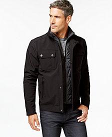 Michael Kors Men's Contrast Quilted Bib Jacket