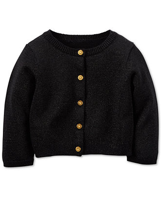 Matalan baby girl black sparkly cardigan Worn but good condition Age months I also have listed a gold sparkly cardigan in the same size Smoke and pet free home Thanks for viewing Girls Cardigan Sweater Kids Newborn Baby Long Sleeve Knitwear Outwear Turtleneck.