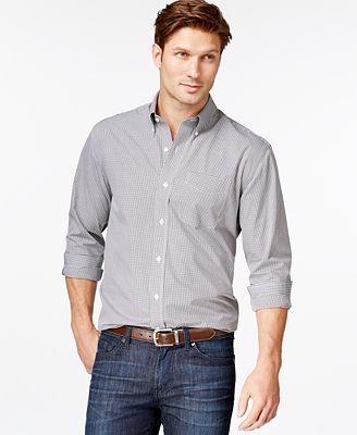 Cutter & Buck Big and Tall Men's Gingham Button-Down Shirt