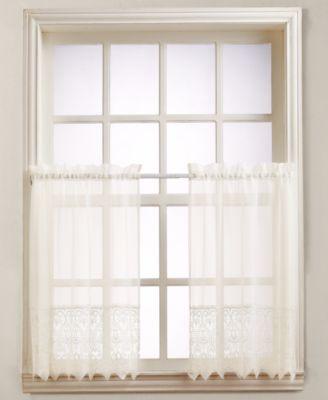 "Joy Lace 60"" x 36"" Pair of Tier Curtains"