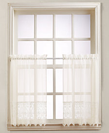 "Lichtenberg Joy Lace 60"" x 36"" Pair of Tier Curtains"