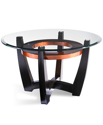 elation round coffee table - furniture - macy's