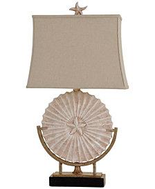 StyleCraft Sand Dollar Medallion Table Lamp