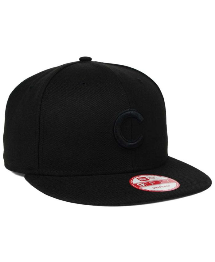 New Era Chicago Cubs Black on Black 9FIFTY Snapback Cap & Reviews - Sports Fan Shop By Lids - Men - Macy's