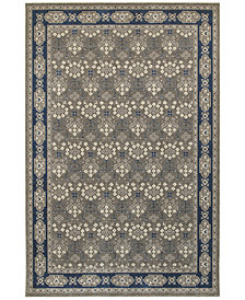"Oriental Weavers Richmond Royal Garden Grey/Navy 6'7"" x 9'6"" Area Rug"