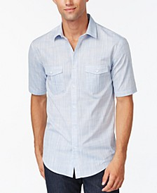 Men's Warren Textured Short Sleeve Shirt, Created for Macy's