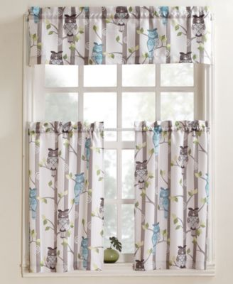 """No. 918 Hoot 56"""" x 36"""" Pair of Tier Curtains"""