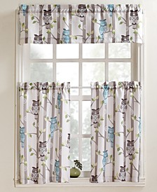 "Hoot 56"" x 36"" Pair of Tier Curtains"