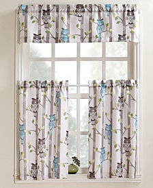 "Lichtenberg No. 918 Hoot 56"" x 24"" Pair of Tier Curtains"