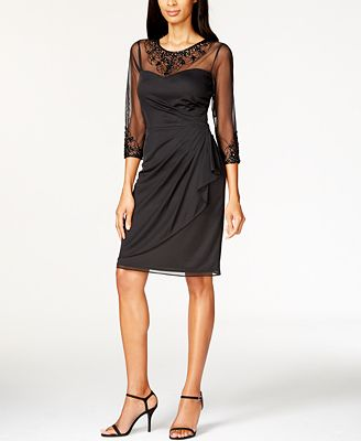 patra matte chiffon beaded dress dresses macy s