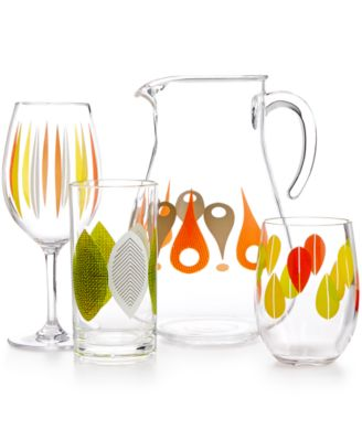 dansk the burbs collection acrylic drinkware collection