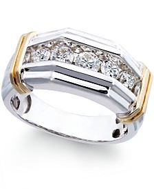 Yellow gold womens engagement and wedding rings macys tw ring in 10k white and yellow gold junglespirit Choice Image