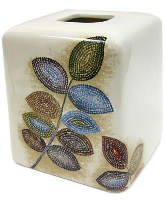 Croscill Bath Mosaic Leaves Tissue Cover