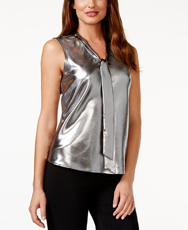 Shop Online at warmongeri.ga for the Latest Womens Silver Shirts, Tunics, Blouses, Halter Tops & More Womens Tops. FREE SHIPPING AVAILABLE! Macy's Presents: The Edit- A curated mix of fashion and inspiration Check It Out. Alfani Metallic Draped-Sleeve Blouse, Created for Macy's.