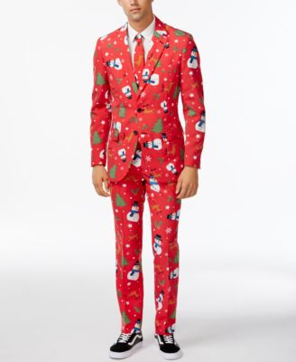OppoSuits Slim-Fit Snowman Suit and Tie - Suits & Suit Separates ...