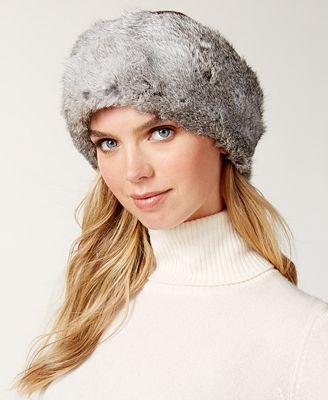 Surell Convertible Rabbit Fur Headband Collar