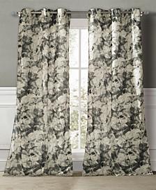 """Rhea 40"""" x 84"""" Floral Curtain Set"""