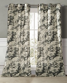 "Rhea 40"" x 84"" Floral Curtain Set"