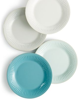 Get in a new groove with Lenoxu0027s latest French Perle dinner plates in durable stoneware that goes from oven to table in style.  sc 1 st  Macyu0027s & Lenox Dinnerware French Perle Groove Dinner Plates - Dinnerware ...