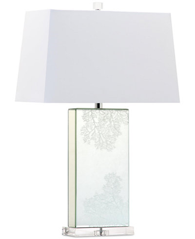 Decorator's Lighting Coral Rectangle Mirror Crystal Table Lamp