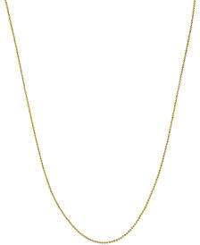 Beaded Link Necklace (3/4mm) in 14k Gold