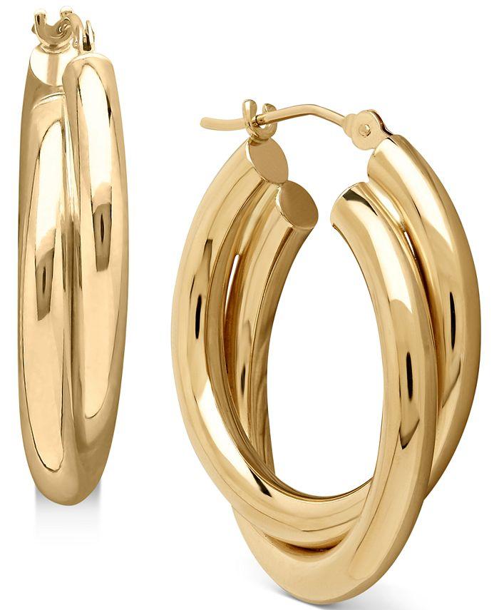 Macy's - Double Doop earrings in 14k Gold