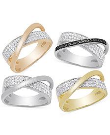 Victoria Townsend Diamond Crossover Ring (1/4 ct. t.w.)