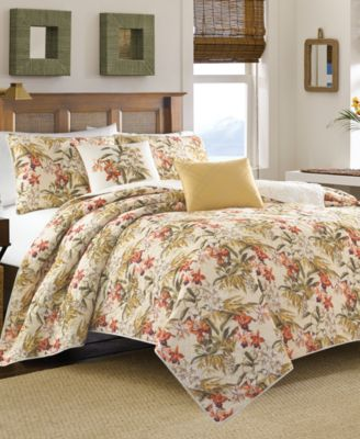 Tommy Bahama Furniture Closeouts #20: CLOSEOUT! Tommy Bahama Home Daintree Tropic Quilt Collection - Quilts U0026amp; Bedspreads - Bed U0026amp; Bath - Macyu0026#39;s