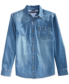 Long-Sleeve Max Denim Shirt, Big Boys