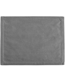 Hotel Collection Linen Modern Gray Placemat, Created for Macy's