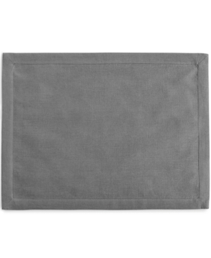 Hotel Collection Linen Modern Gray Placemat Created for Macys